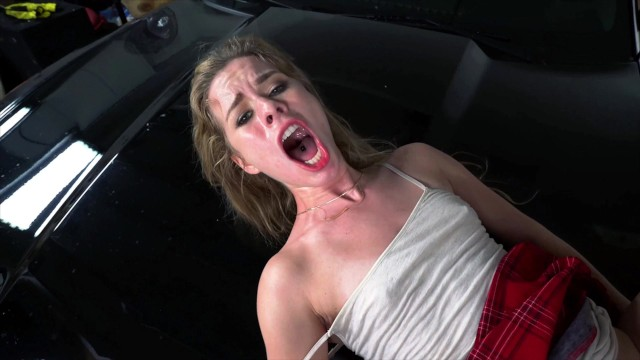 DON'T FUCK MY DAUGHTER – 18yr Old Lilly Ford Fucks Father's friend Big Dick
