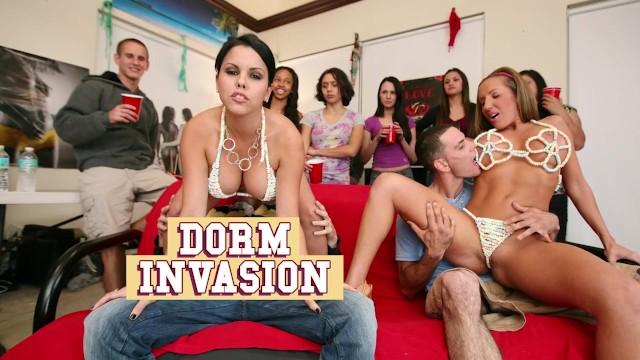 BANGBROS - College Dorm Gets Invaded By Diamond Kitty, Nikki Sexx, etc.