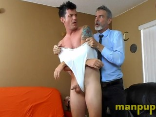 Ball wedgies for gay jock therapy patient jeff...