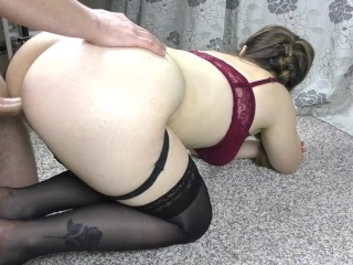Stepsis ass stockings fuck ass...