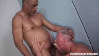Mature hunk assfucked by horny bear