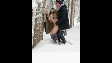 Outdoor Snow Quickie