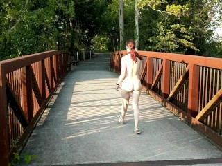 Nude walk in the park
