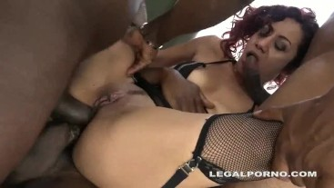 Double anal with 4 blacks