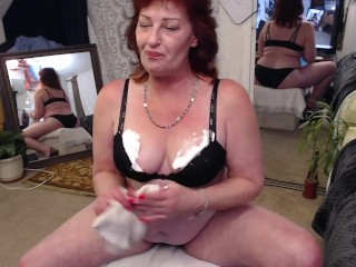 V223 Steves second custom whipped cream panties and bra