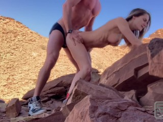 Longboarding and Hiking Fucking and Sucking Las Vegas Mountains