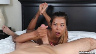 Ultimate Handjob - Little Asian Girl Gets SPLATTERED with CUM