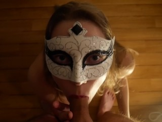 Trying mask blowjob on a camera...