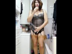 Patty crosdresser black body with suspenders