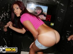 BANGBROS - Big Butt Latina Sophia Steele Takes Multiple Cocks (Gloryhole)