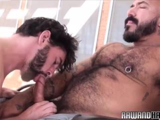 Otter bareback pounded by hunky wolf