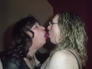Double Dong Dildo Deep Throat with Trans Girls Lisa and Gigi