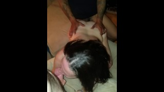 Spitroasting my hotwife with a friend Part 2