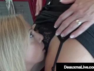 Hot Cougar Deauxma Tongue Fucks Horny Mechanic Brooke Tyler!
