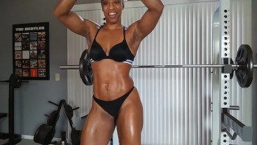 Oiled muscle Pull ups