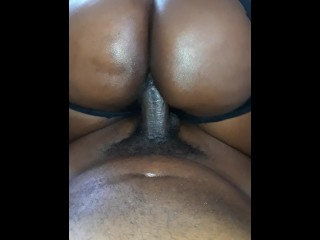 18 yr old wife bouncing big ass on dick