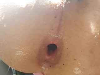 I dilate me little asshole with a big dildo gay french