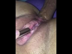 BBW anal creampie