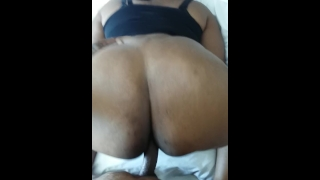 Ebony BBW Denise Da Cheeks Takes BBC Doggystyle in the Hyatt