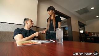 Waitress POV - Kitty Carrera - Quit Waiting, Start Fucking