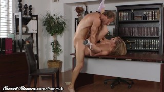 SweetSinner Passionate Hot Sex With Her College Prof.
