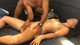 Kennedy James Erotic Front Massage Finger Blasted