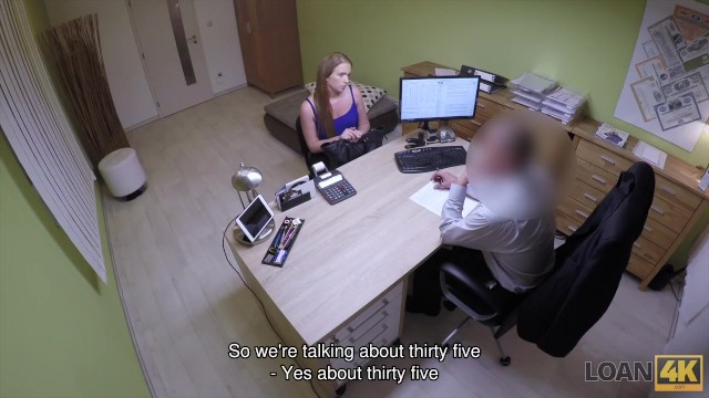 LOAN4K. Bad agent fucks good student girl and approves her documents 5