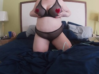 Plus size woman teasing you for valentines day