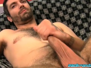 Hairy young gay masturbation before cumshot...