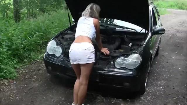 Masturbation spritzen Milf Auto Penis masturbation,