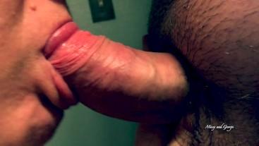 Extreme Close Up Blowjob and Facial - Flying Cum