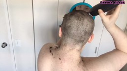 Young Woman With Big Tits Shaves Head Bald