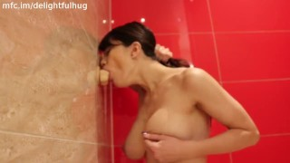 hard suck and fuck in bathroom