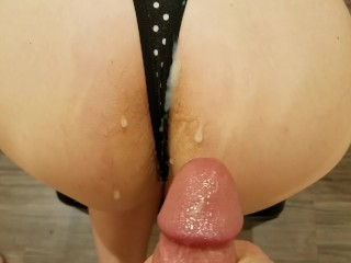 Crack and thong pov...