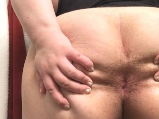 Putting a buttplug in my ass...