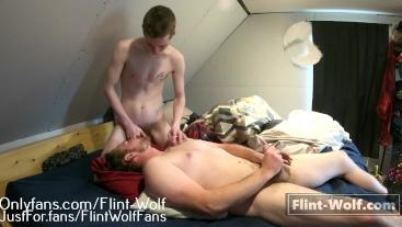 FEEDING DADDY BEAR MY TWINK DICK AGAIN (onlyfans.com.Flint-Wolf)