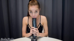 Fun play with 14 inch dildo - SolaZola