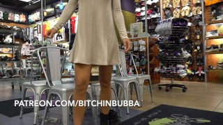 Hot Teen Upskirt in the Mall No Panties