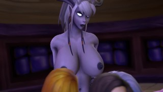 World of Warcraft - Night among friends futa x fem Pussy natural