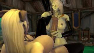 Futa Draenei Love - World of Warcraft