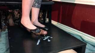 Chastity Cockbox Tease, Shoejob With Ballet Flats