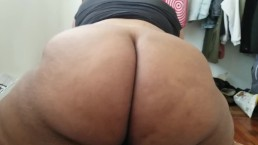 BBW REVERSE COWGIRL TWERKING ON MY BOYFRIEND'S DICC