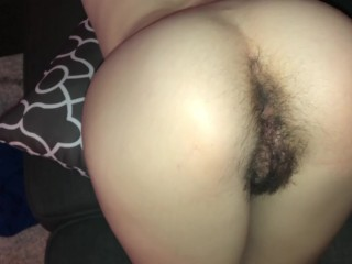 Step sister shows off her hairy pussy