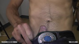 Blonde Uncut Daddy Stroking One Out