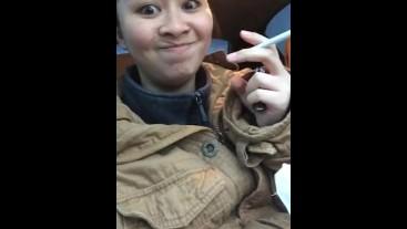 Girl Smoking in a Car | MissDeeNicotine