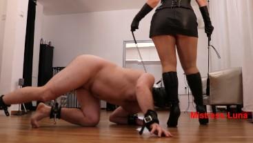 Slave in leash