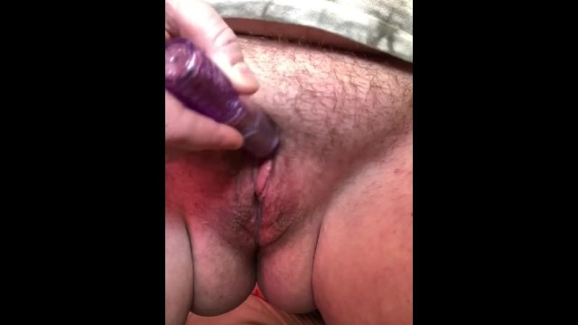 warming up my wet, au natural pussy with my whip, vibrator, and dildo !! 2