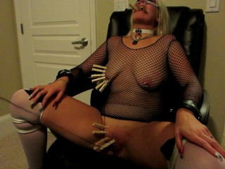 nikita mirzani - blonde slave gets first clothespin zipper