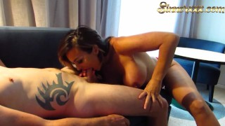 Cheating wife sucks dick and eats ass