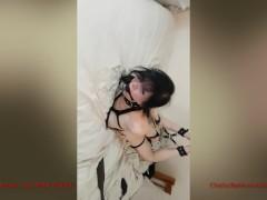 Hogtie Webcam Bondage, Double Penetration with Toys (AnnaJelly)